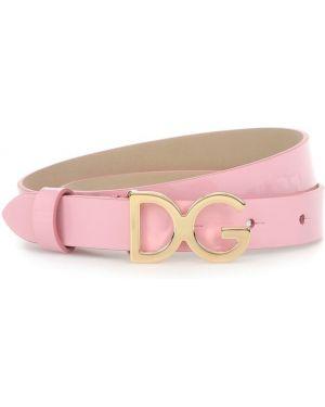 Кожаный розовый ремень с поясом Dolce & Gabbana Kids