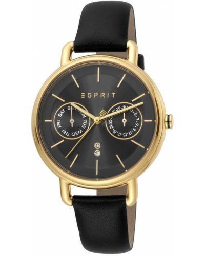 Czarny złoty zegarek mechaniczny kwarc Esprit