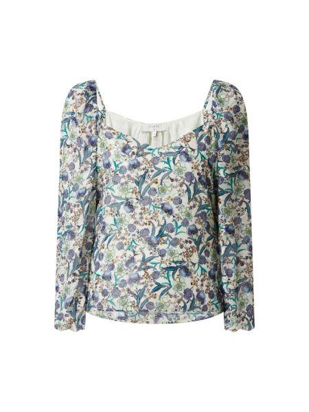 Niebieska bluzka z wiskozy z raglanowymi rękawami Dante 6