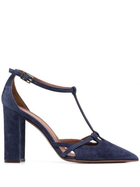 С ремешком кожаные туфли-лодочки на каблуке L'autre Chose