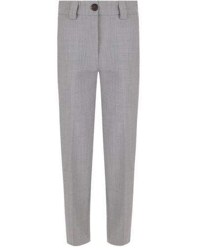 Укороченные брюки со стрелками с карманами Erika Cavallini