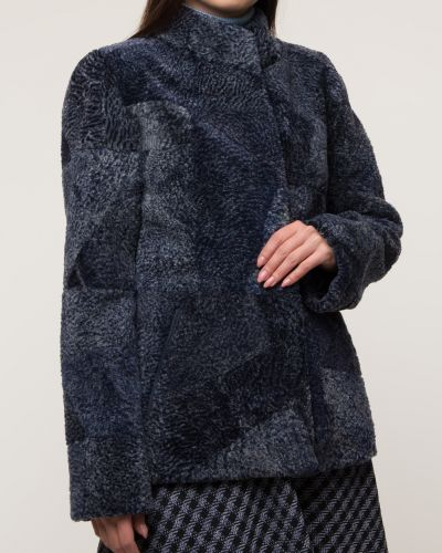Куртка с мехом - синяя Dzhanbekoff