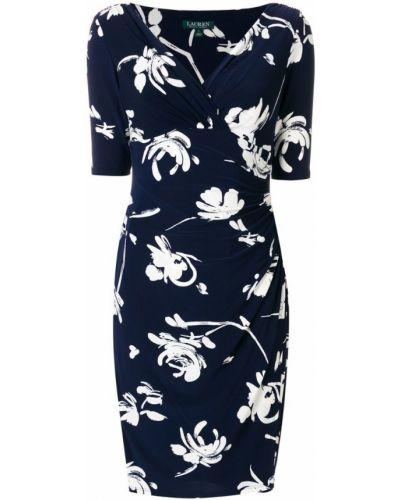 Синее платье с цветочным принтом Ralph Lauren