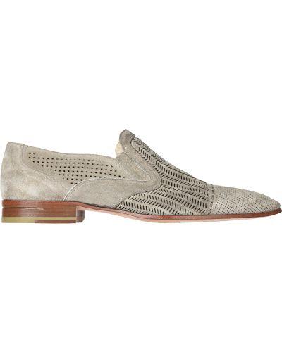 Бежевые туфли замшевые Dino Bigioni
