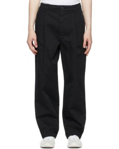 Czarne spodnie z paskiem bawełniane Acne Studios
