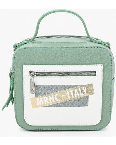Зеленая сумка с ручками из натуральной кожи Marina Creazioni