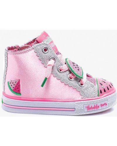 Розовые кеды Skechers