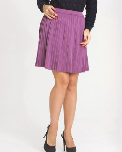 Фиолетовая плиссированная юбка мини Nataclub