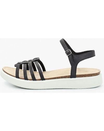 Черные сандалии из нубука Ecco