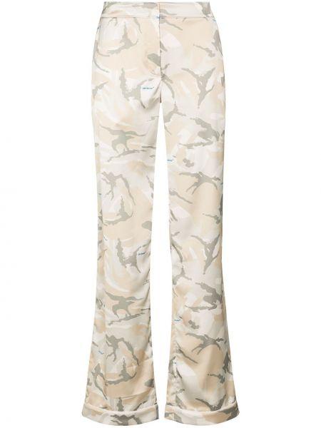 Spodni rozbłysnął beżowy spodnie Off-white