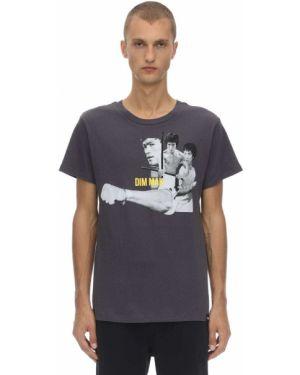 T-shirt bawełniany z printem Dim Mak Collection