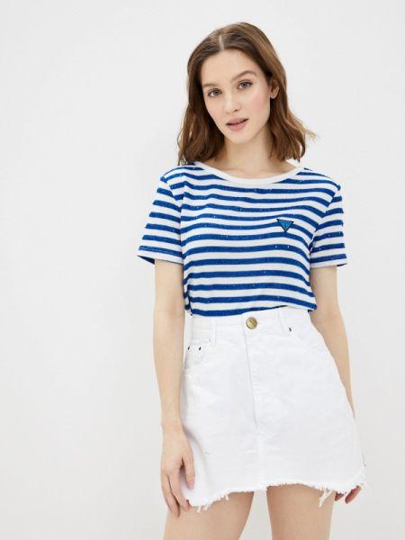Поло джинсовый синий Guess Jeans