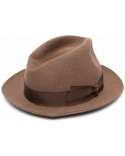 Brązowa czapka Borsalino