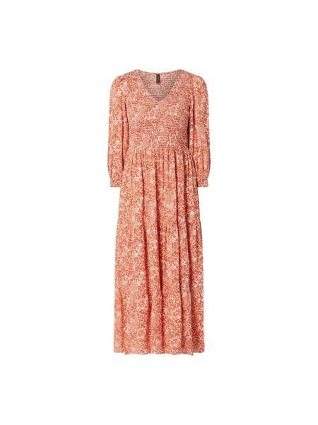 Sukienka rozkloszowana z wiskozy z dekoltem w serek Y.a.s