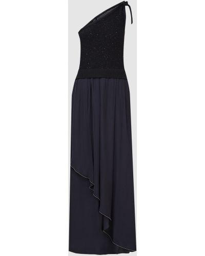 Синее платье макси Peserico