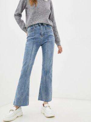 Голубые джинсы клеш расклешенные Indiano Natural
