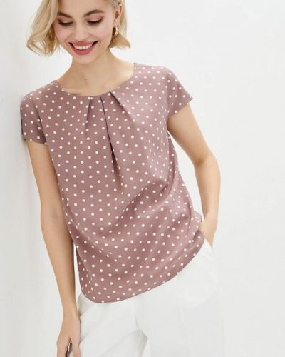 Коричневая блузка с короткими рукавами Zubrytskaya
