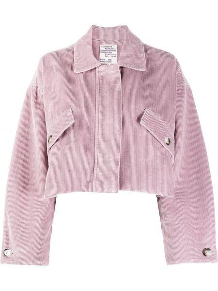 Ватная розовая длинная куртка с воротником Baum Und Pferdgarten