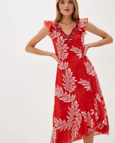 Вечернее платье индийский красный Camomilla Italia