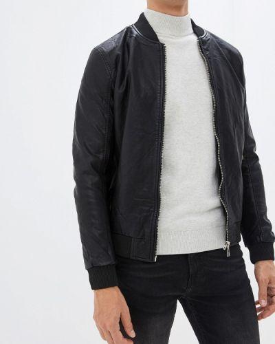 Кожаная куртка черная осенняя Chromosome