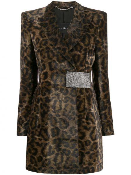 Czarny płaszcz kopertowy z wiskozy John Richmond