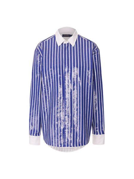 Рубашка с пайетками из поплина Polo Ralph Lauren