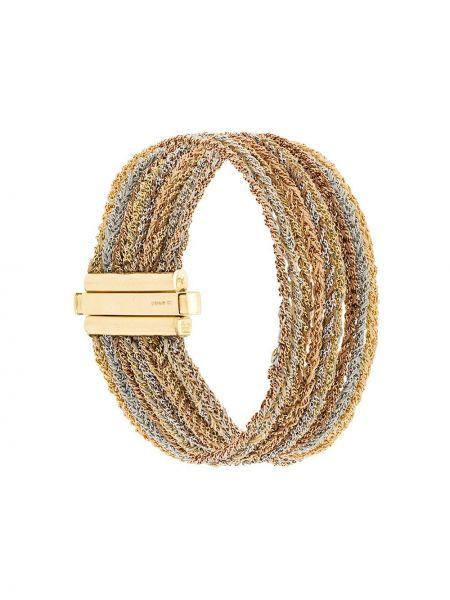 Шелковый золотистый желтый золотой браслет Carolina Bucci