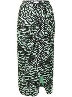 Шелковая юбка миди - зеленая Jonathan Simkhai