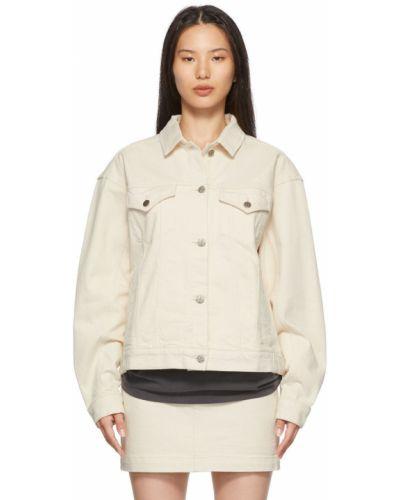Белая джинсовая куртка с вышивкой Ksubi