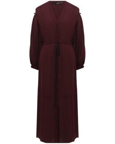 Красное шелковое платье Isabel Benenato
