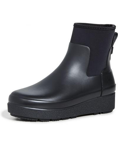 Czarne creepersy na koturnie Hunter Boots