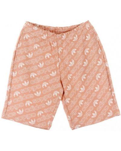 Różowe krótkie szorty Adidas