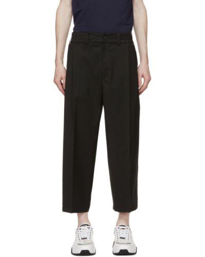 Шерстяные белые брюки с карманами Versace Jeans Couture