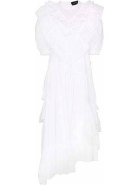 Платье мини каскадное на молнии Simone Rocha
