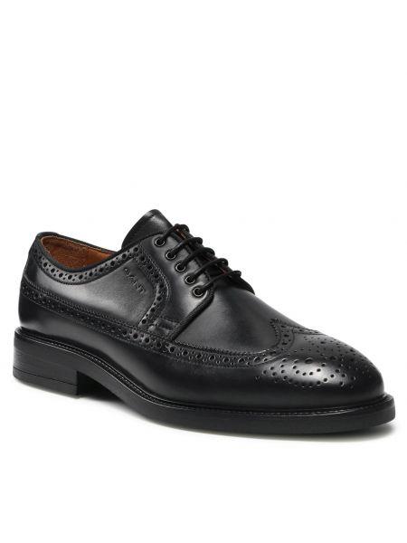 Czarne półbuty eleganckie Gant