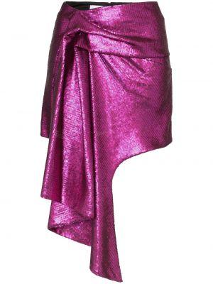 Fioletowa spódnica mini asymetryczna z jedwabiu Halpern