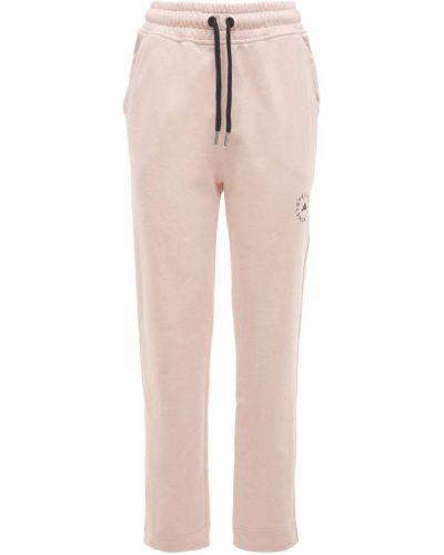 Różowe joggery Adidas By Stella Mccartney