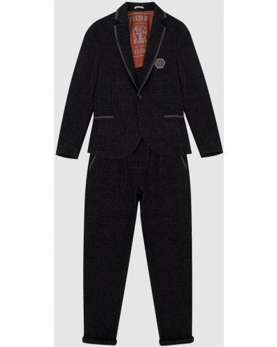 Костюмный шерстяной серый костюм Brunello Cucinelli