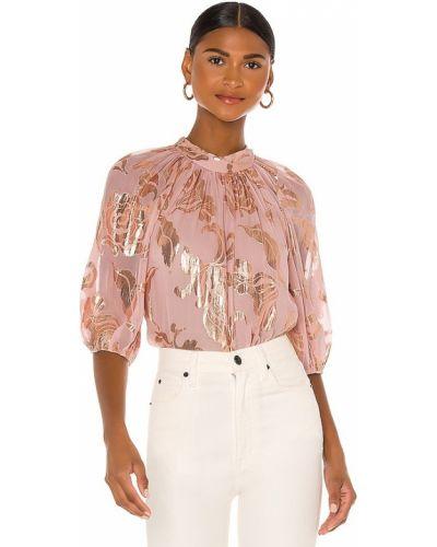 Różowa bluzka z jedwabiu Rebecca Taylor