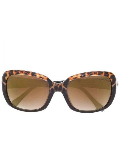 Коричневые солнцезащитные очки Roberto Cavalli
