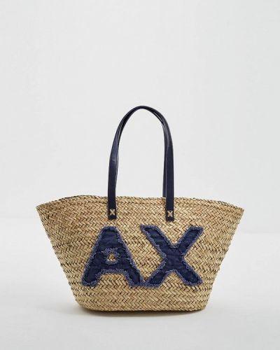 Пляжная сумка соломенная Armani Exchange