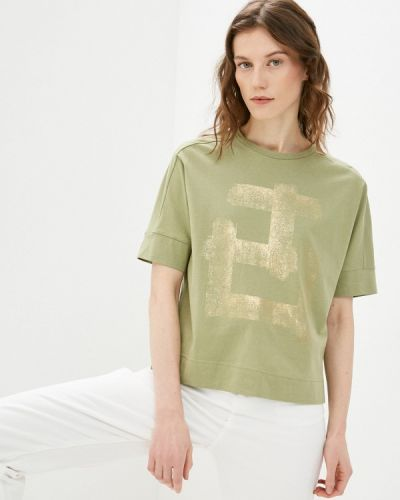 Зеленая футболка с короткими рукавами Bulmer