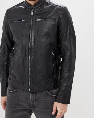 Кожаная куртка черная индийский Urban Fashion For Men