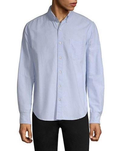 Niebieska koszula oxford bawełniana z długimi rękawami Rag & Bone