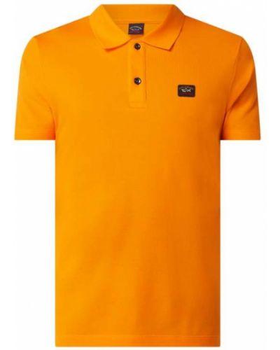 T-shirt bawełniana - pomarańczowa Paul & Shark