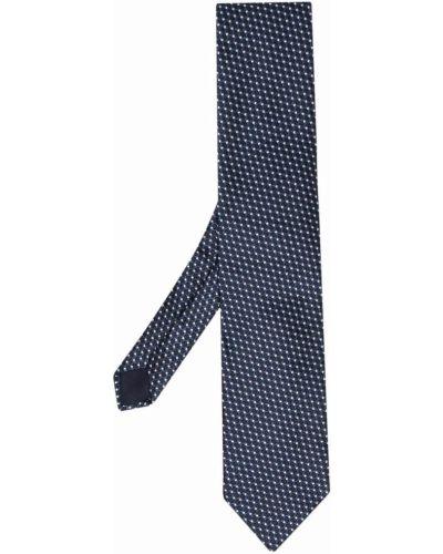 Синий шелковый галстук Corneliani