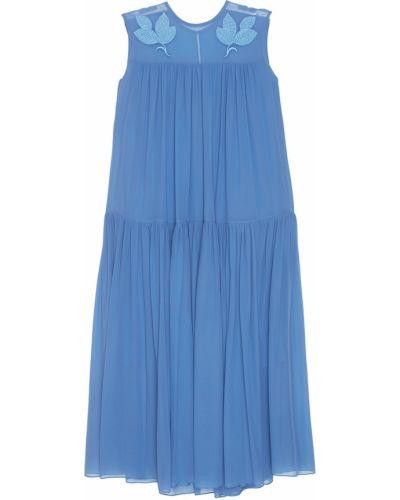 Шелковое платье миди - голубое Alena Akhmadullina