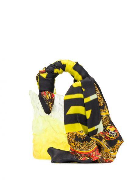 Желтая сумка-тоут с декоративной отделкой Ottolinger