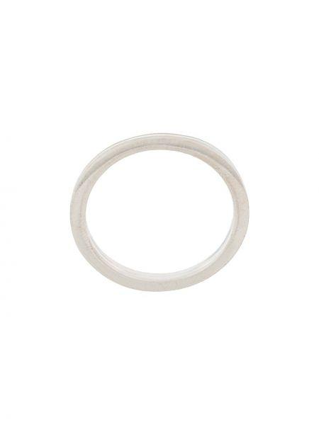 Prążkowany pierścionek srebrny Isabel Lennse