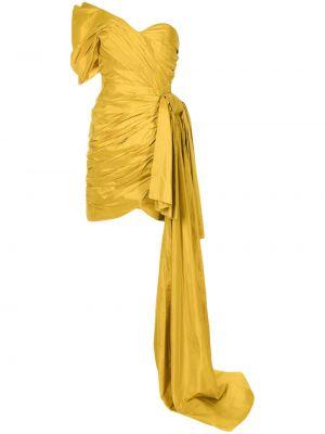 Шелковое платье - желтое Oscar De La Renta